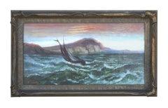 Sailing on San Francisco Bay Seascape 1890s