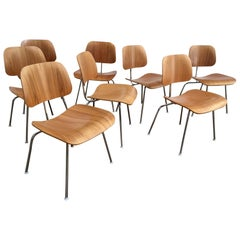 Eight Dinning Chairs Designed by Ray and Charles Eames for Herman Miller