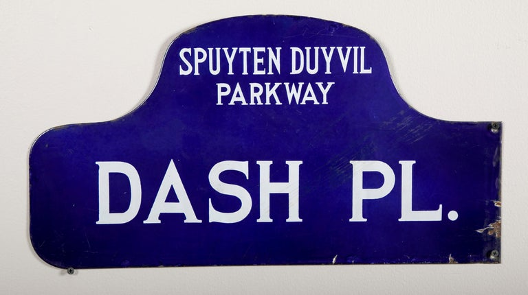 Eight NYC, New York Porcelain over Metal Enamel Street Signs For Sale 4