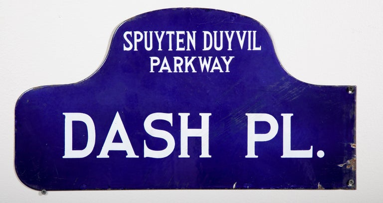 Modern Eight NYC, New York Porcelain over Metal Enamel Street Signs For Sale