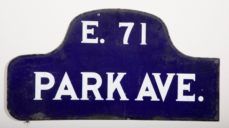 American Eight NYC, New York Porcelain over Metal Enamel Street Signs For Sale