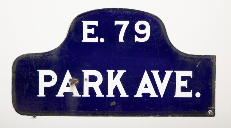 Enameled Eight NYC, New York Porcelain over Metal Enamel Street Signs For Sale
