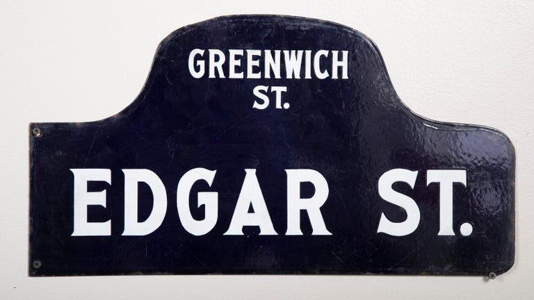 20th Century Eight NYC, New York Porcelain over Metal Enamel Street Signs For Sale