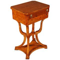 Elegant Sewing Table in Biedermeier Style