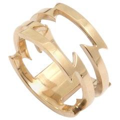Ella Green 14 Karat Yellow Gold Razor Wire Ring
