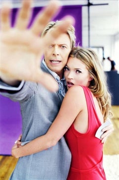 David Bowie and Kate Moss - portrait of the famous pop star with the supermodel