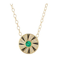 Emerald and Diamond Shazam Series III Necklace by Andrew Glassford