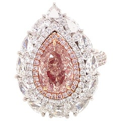 Emilio Jewelry 2.00 Carat Fancy Pink Diamond Ring