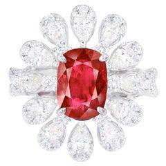 Emilio Jewelry Certified 2.30 Carat No Heat Ruby Ring