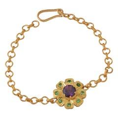 Emma Chapman Amethyst Tsavorite Bracelet