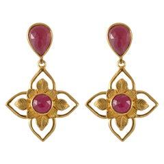 Emma Chapman Ruby Gold Plate Earrings