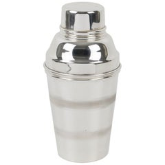 English Art Deco Silver Plate Baby Cocktail Shaker