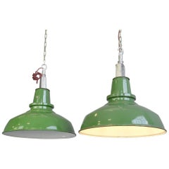 English Factory Lights by Thorlux, circa 1950s