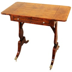 English Regency Rosewood Reading Table, 19th Century