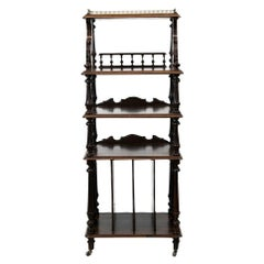 English Solid Rosewood Four-Tiered Shelf