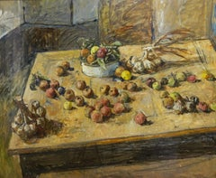 """""""Big still life """" Sill life,Fruit,Dining room  cm. 120 x 100  Oil"""