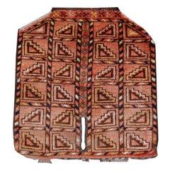 Ersari Rug Saddle Blanket Cover Tribal Turkoman Hand Knotted Antique Carpet