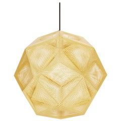 Etch Large Pendant Light in Brass by Tom Dixon