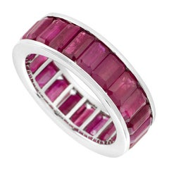 Eternity Baguette Natural Ruby Ring