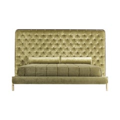 Etro Delfi Bed in Velvet and Polished Brass