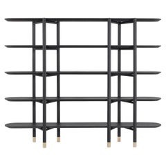 Etro Woodstock Bookcase in Wood and Brass