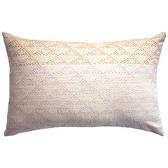 Eva Rust & Pink Hand Embroidered Modern Geometric Throw Pillow Cover