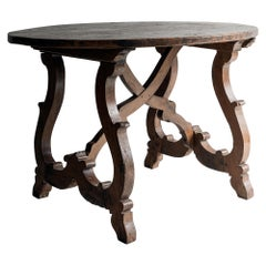 Exceptional 17th Century Italian Table in Solid Walnut