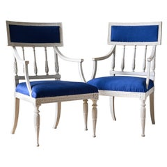 Exceptional 18th Century Gustavian Armchairs