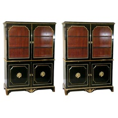 Exceptional Pair of Jansen Louis XVI Style Bookcases
