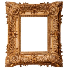 Exceptional Royal Quality French Regence Frame, Mirror, France, 1720s