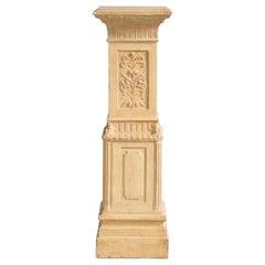Exceptional Swedish 19th Century Empire Plaster Column