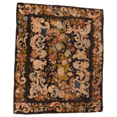 Extremely Fine Antique English Needlepoint, Hand Knotted, circa 18th Century