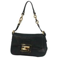 FENDI ma MMa bucket handbag Womens shoulder bag black