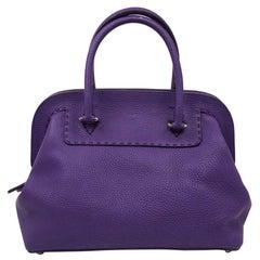 Fendi Purple Leather Bag
