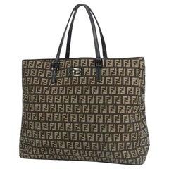 FENDI Zucchino Womens handbag 2111 8BH138 brown x beige