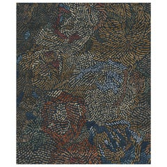 Fiametta Giardino in Autunno Hand Knotted Wool and Silk Rug 8 x 10ft
