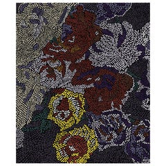Fiametta Giardino in Primavera Hand Knotted Wool and Silk Rug 8 x 10ft
