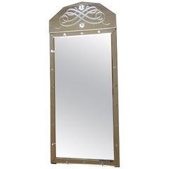 Fine Engraved Venetian Mirror, Italy, 1930-1940