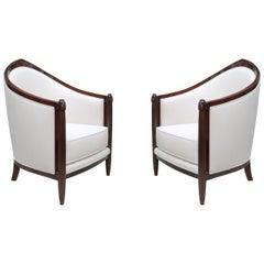 Fine Pair of Art Deco Bergères