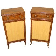 Fine Regency English 19th Century Mahogany Pair of Side Cabinets