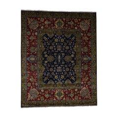 Fine Sarouk 300KPSI New Zealand Wool Hand Knotted Oriental Rug