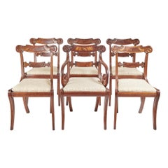 Fine Set of Six Regency Dining Chairs