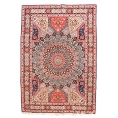 Fine Vintage Persian Tabriz Rug, Hand Knotted, circa 1970s