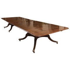 Finest Grand Scale 19th Century Regency Plum Pudding Mahogany Dining Table