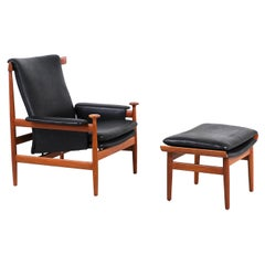 Finn Juhl Bwana Chair with Ottoman for France & Søn