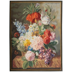 21st Century Floral Handwoven Tapestry