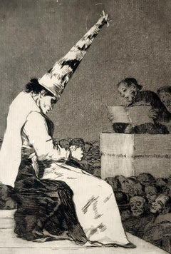 Aquellos Polbos - Original Etching by Francisco Goya - 1799