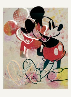 M111-Figurative, Street art, Pop art, Modern, Contemporary Abstract Mickey Mouse