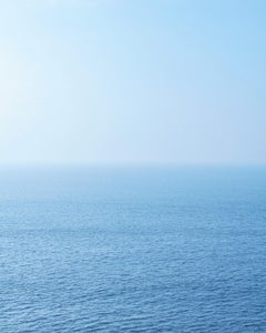 Seascape VIII - large format photograph of blue toned water surface
