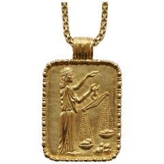 Fred of Paris Gold Libra Pendant